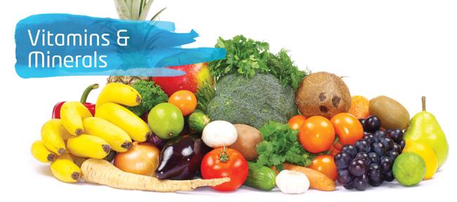 Surse de alimente pentru toate vitaminele si mineralele