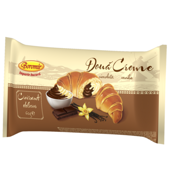 Croisant cu crema da ciocolata si vanilie Boromir