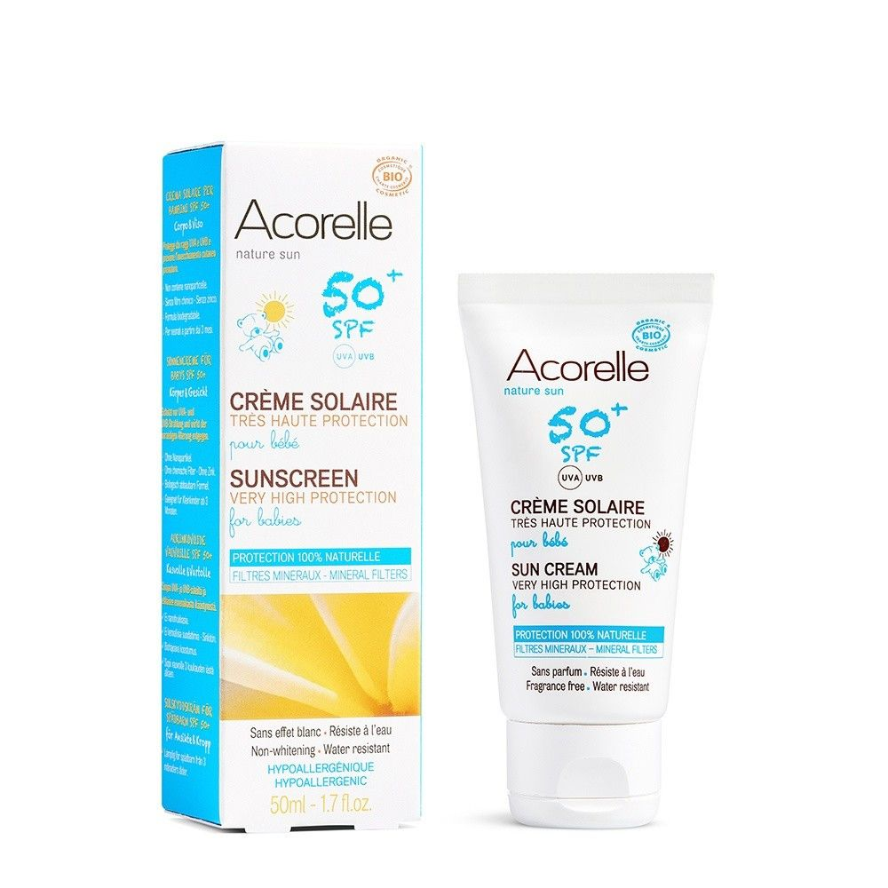 Acorelle - Crema bio de protectie solara pentru bebelusi, SPF 50
