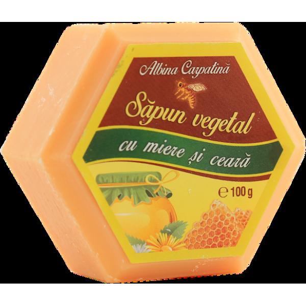 Albina Carpatina - Sapun vegetal cu miere si ceara