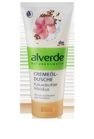 Alverde - Crema de dus cu unt de cacao si hibiscus