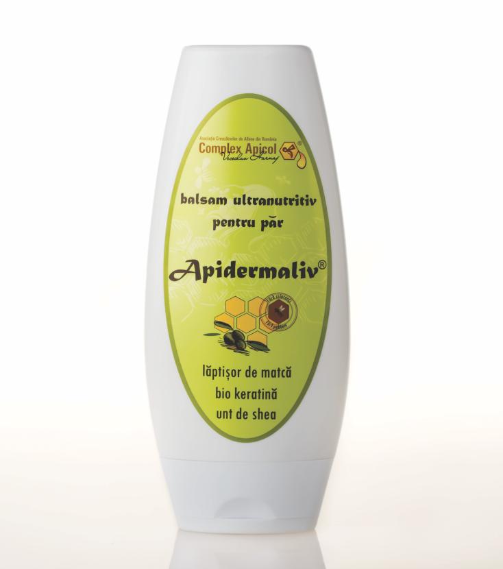 Apidermaliv - Balsam ultranutritiv pentru par cu laptisor de matca, bio keratina, unt de shea