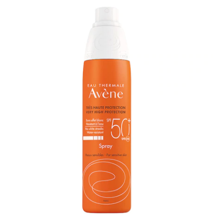 Avene - Spray cu protectie solara pentru ten sensibil, SPF 50+