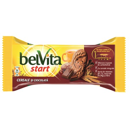 Belvita Start - Biscuiti cu cereale si ciocolata
