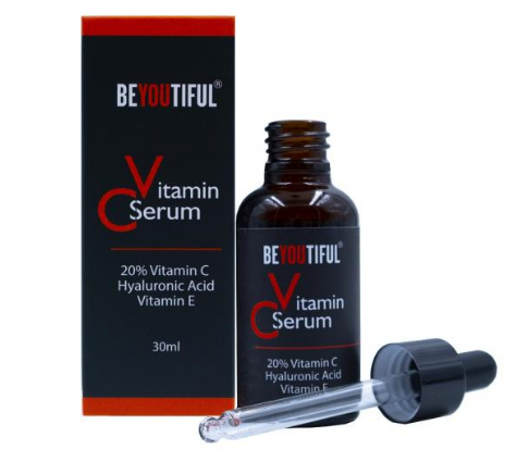 Beyoutiful - Ser cu vitamina C 20%, acid hialuronic si vitamina E