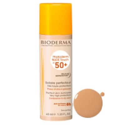 Bioderma - Photoderm NUDE Touch SPF 50+ Fluid crema pentru piele mixta si grasa