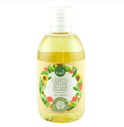 Biolu - Sampon pentru par uscat, vopsit cu ulei de masline ecologic Bio