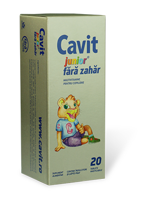 Cavit Junior - Tablete masticabile fara zahar
