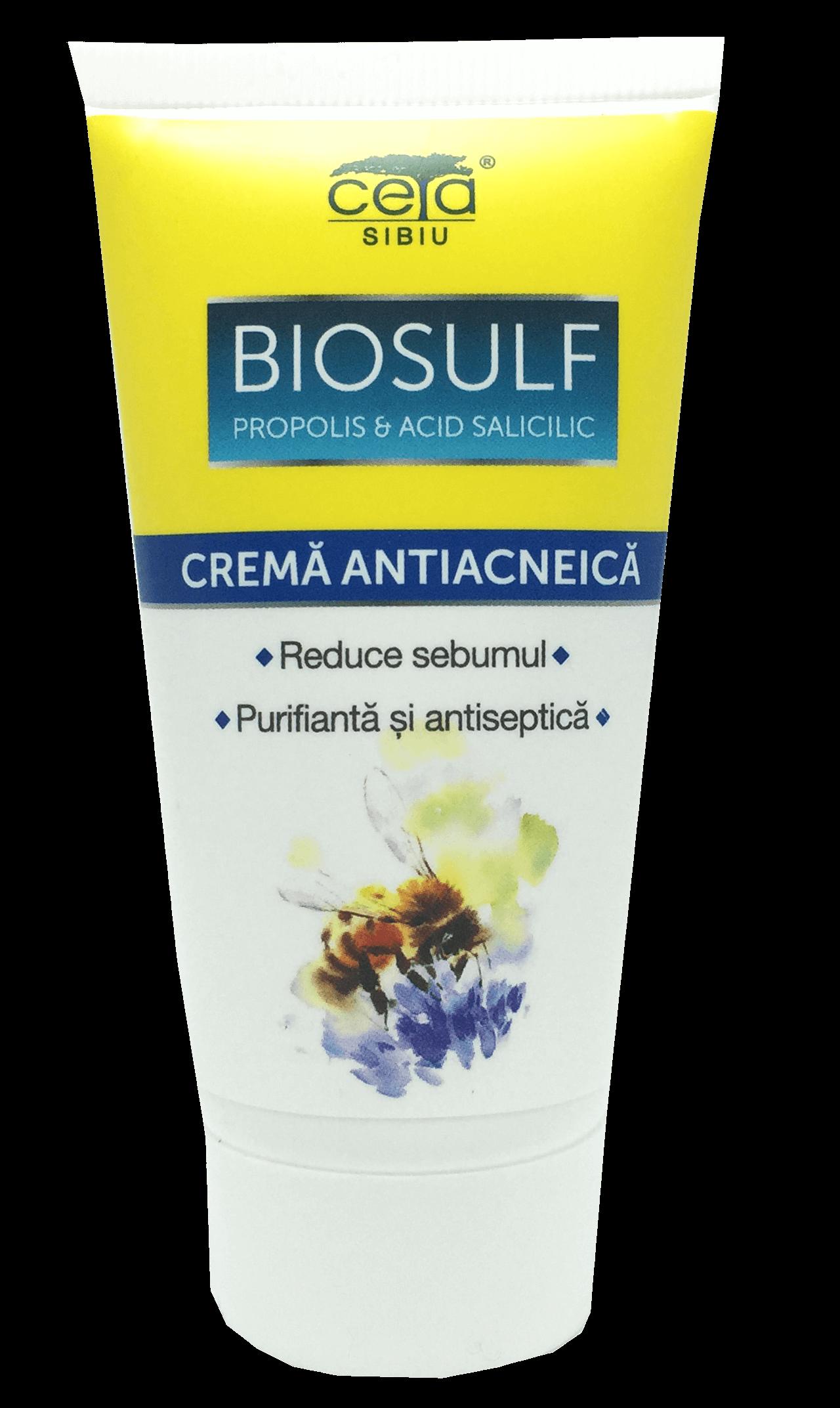 Ceta - Crema antiacneica cu biosulf propolis si acid salicilic