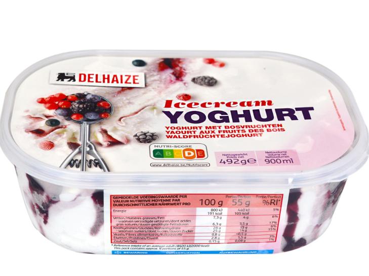 Delhaize - Inghetata cu iaurt si fructe de padure