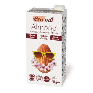 EcoMil - Lapte din Migdale Neindulcit Nature cu Vanilie si Curcuma BIO