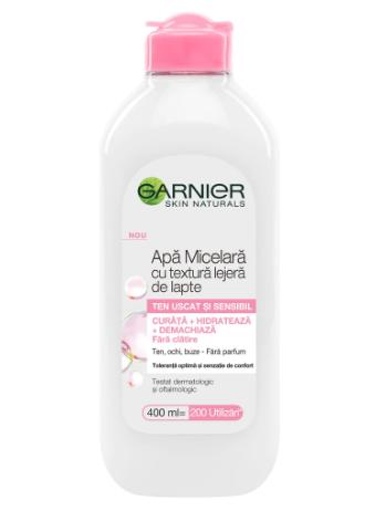 Garnier - Skin Naturals Apa micelara cu textura lejera de lapte pentru ten uscat si sensibil