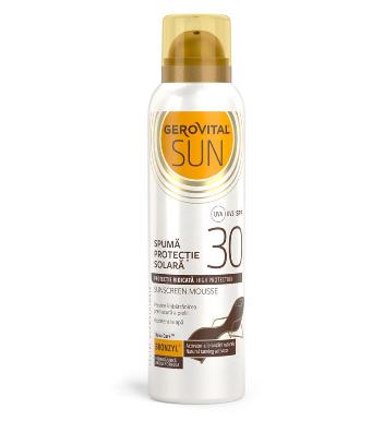 Gerovital Sun - Spuma de protectie solara, SPF 30
