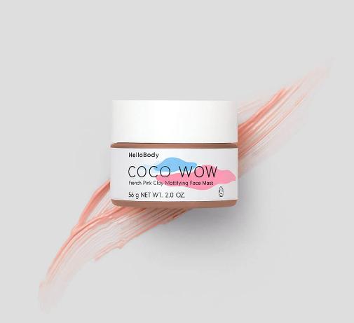 Hello Body - Coco Wow Masca cu argint roz franceza