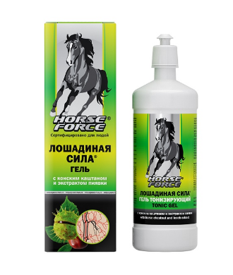Horse Force - Gel tonic cu castan salbatic si extract de lipitori