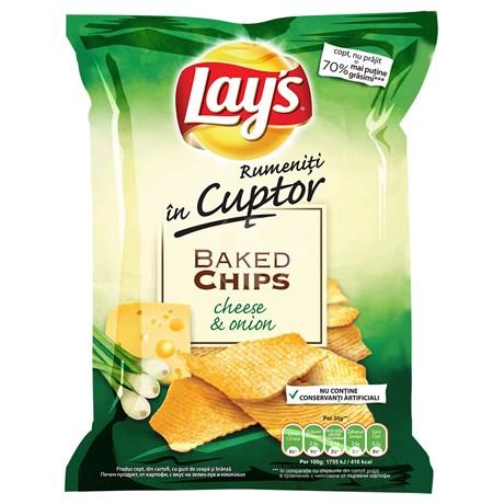 Lays - Rumeniti in cuptor Chips cu gust de ceapa si branza
