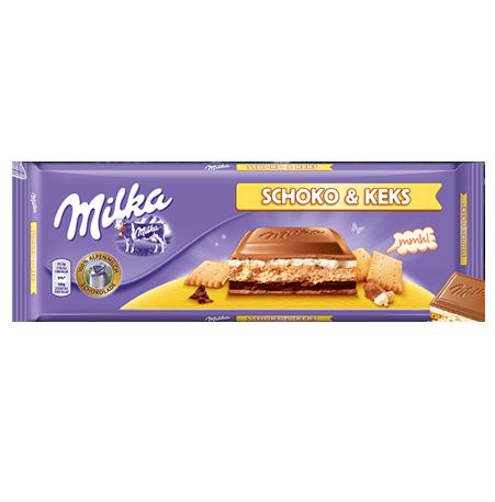 Milka - Schoko & Keks Ciocolata cu biscuiti