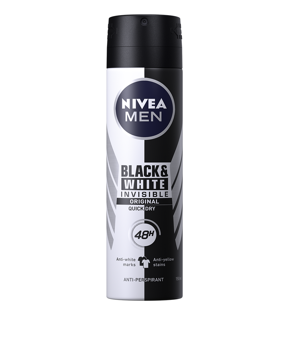 Nivea Men - Black & White Invisible Power Deodorant spray