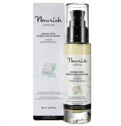 Nourish London - Argan Skin Renew Moisturiser Crema hidratanta