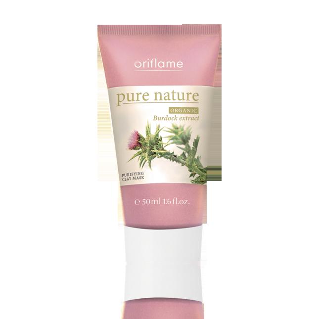 Oriflame - Pure Nature Organic Masca purificatoare de fata cu argila si extracte din brusture