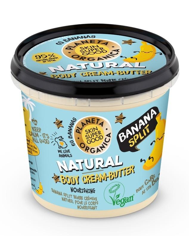 Planeta Organica - Skin Supergood Unt de corp cremos cu banane Banana Split