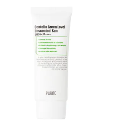 Purito - Green level unscented sun Crema protectie solara SPF 50