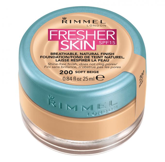 Rimmel - Fresher Skin Fond de ten cu SPF 15