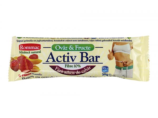 Rommac - Activ bar cu fibre, ovaz si fructe
