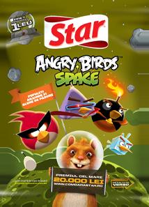 Star - Angry Birds Space Pufuleti cu arahide si alune de padure