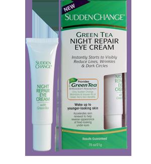 Sudden Change - Crema reparatoare de noapte pentru ochi cu extract de ceai
