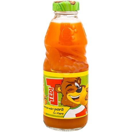 Tedi - Suc de morcovi, mere si pere cu miere