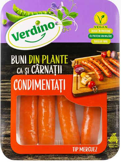 Verdino - Alternativa vegetala la carnatii merguez