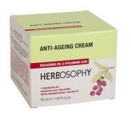 Herbosophy - Crema de fata anti-imbatranire cu ulei macadamia si acid hialuronic
