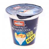 Muller - Iaurt cu bucati de piersici si caise, 3.6% grasime