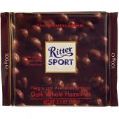 Ritter Sport - Ciocolata amaruie cu alune intregi