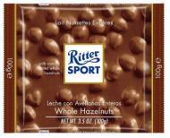 Ritter Sport - Ciocolata cu lapte cu alune intregi