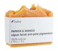 Sabio - Sapun facial natural anti-pete pigmentare Papaya si Mango